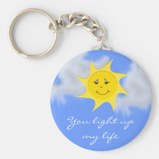 Sunshine Collection Basic Round Button Key Ring