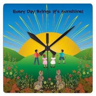 Sunshine Days Clock