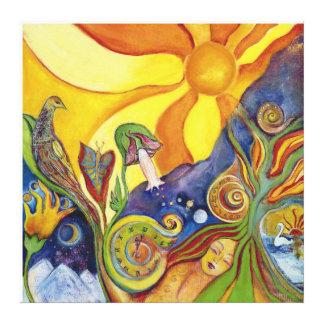 Sunshine Dream Fairy Fantasy Pop Art Lysergia Canvas Print