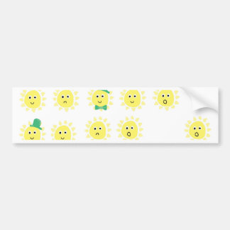 sunshine emotions bumper sticker