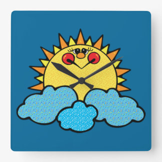 sunshine face clock