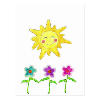 Sunshine Flowers Post Cards