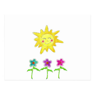 Sunshine Flowers Post Cards