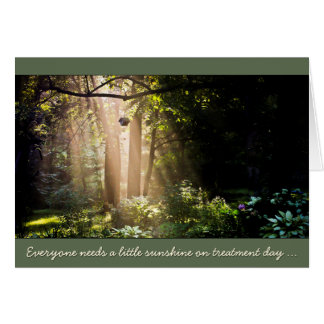 Sunshine for Cancer Patient Treatment Day Note Card
