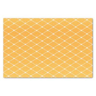 Sunshine Golden Yellow and Diamond Pattern Tissue Paper