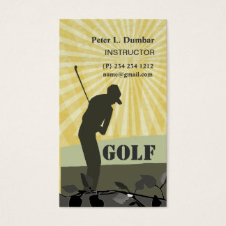 Sunshine Golf Player- Coach Business Card
