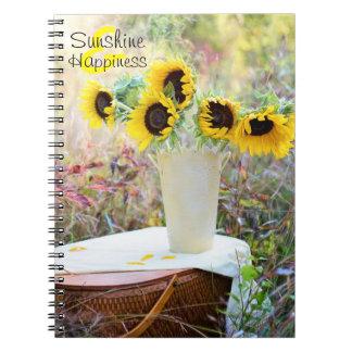 Sunshine & Happiness Sunflowers Notebooks