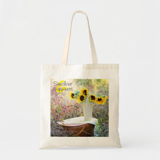 Sunshine & Happiness Sunflowers Tote Bag