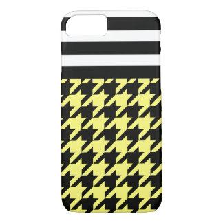 Sunshine Houndstooth w/ Stripes 2 iPhone 7 Case