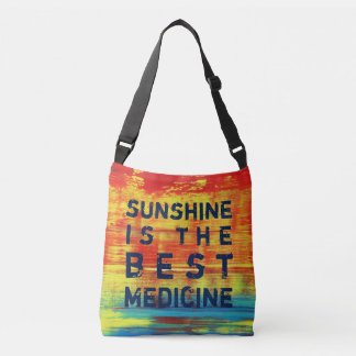 Sunshine is the best Medicine - Red Abstract Art Crossbody Bag