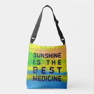 Sunshine is the best Medicine- Yellow Abstract Art Tote Bag