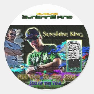 Sunshine King 2011 mix Classic Round Sticker