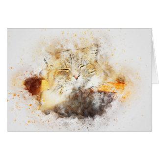 Sunshine Kitty | Abstract | Watercolor Card