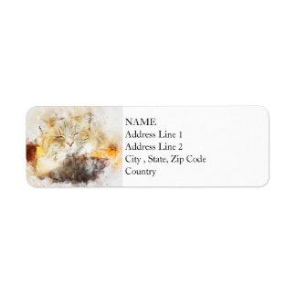Sunshine Kitty | Abstract | Watercolor Return Address Label