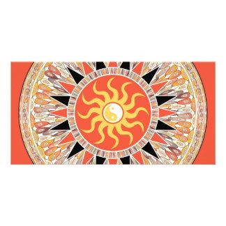 Sunshine mandala personalised photo card