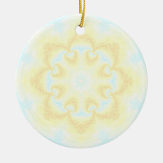 Sunshine Mandala Round Ceramic Decoration