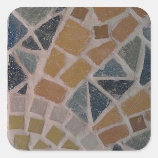 Sunshine Mosaic, Sunny bag, Baby & Mug Square Sticker