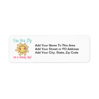 Sunshine on a Cloudy Day Return Address Label