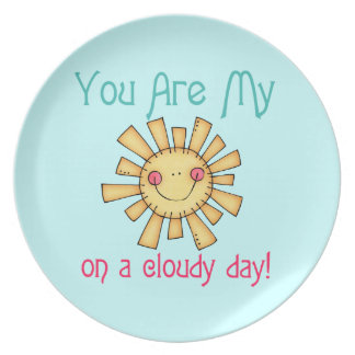 Sunshine on a Cloudy Day Party Plate