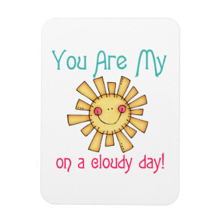 Sunshine on a Cloudy Day Rectangle Magnets