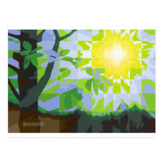 Sunshine on a lazy summer afternoon postcard