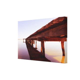 Sunshine on the Pier Canvas Print