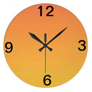 Sunshine Orange Large Clock
