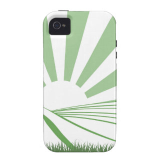 Sunshine Over Hill Fields iPhone 4 Cover
