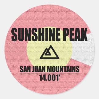 Sunshine Peak Classic Round Sticker