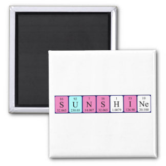 Sunshine periodic table name magnet