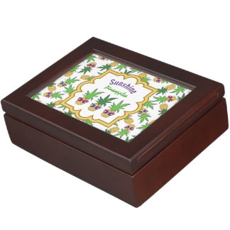 Sunshine Pineapples Pattern Memory Box