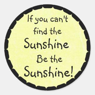 Sunshine Quote Yellow Inspirational Stickers