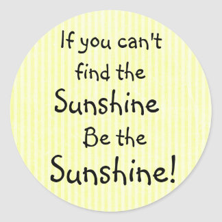 Sunshine Quote Yellow Inspirational Stickers