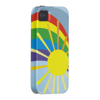 Sunshine rainbow abstract art iPhone 4 cover