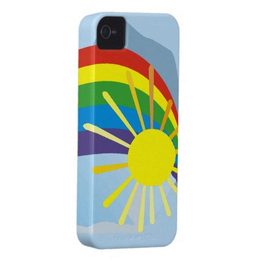 Sunshine rainbow abstract art blackberry bold covers