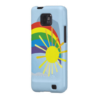 Sunshine rainbow abstract art samsung galaxy SII cover