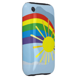 Sunshine rainbow abstract art tough iPhone 3 cases