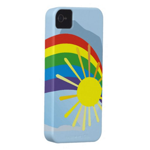 Sunshine rainbow abstract art iPhone 4 Case-Mate cases