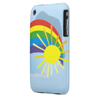 Sunshine rainbow abstract art iPhone 3 Case-Mate cases