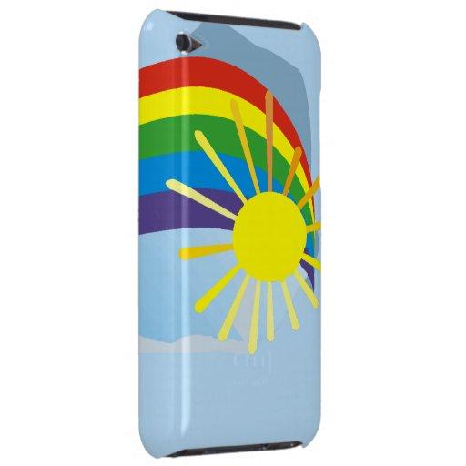 Sunshine rainbow abstract art iPod touch case