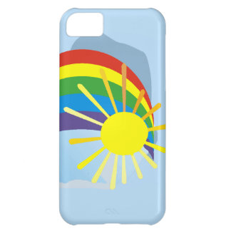 Sunshine rainbow abstract art case for iPhone 5C