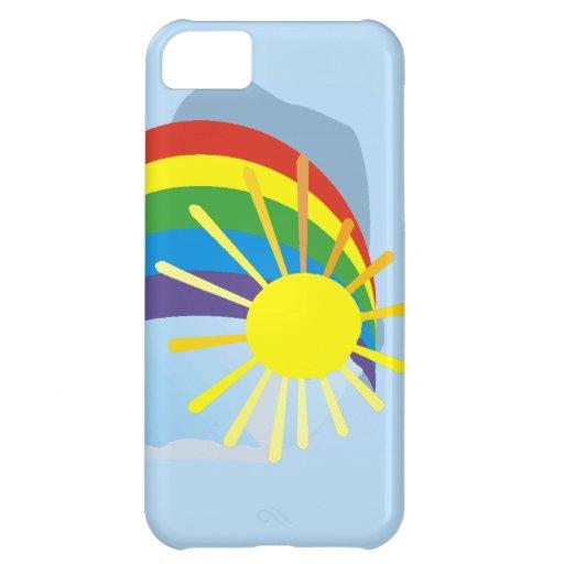 Sunshine rainbow abstract art case for iPhone 5C