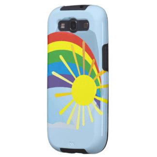 Sunshine rainbow abstract art samsung galaxy s3 covers