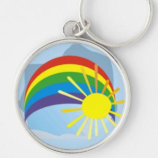 Sunshine rainbow abstract art keychain