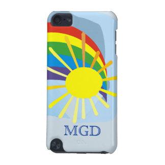 Sunshine rainbow abstract art monogram iPod touch 5G case