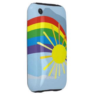 Sunshine rainbow abstract art tough iPhone 3 cases