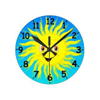 Sunshine Round Clock
