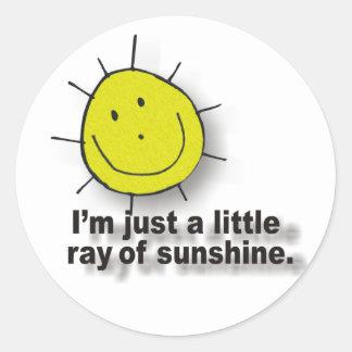 sunshine round sticker