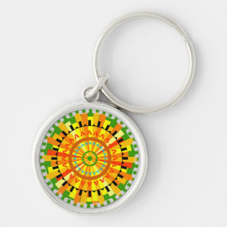 Sunshine Silver-Colored Round Key Ring