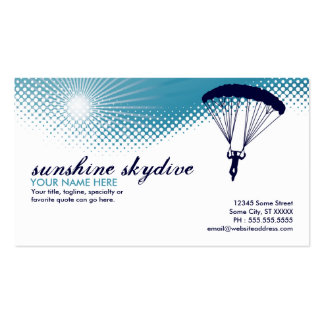 sunshine skydiving business card template